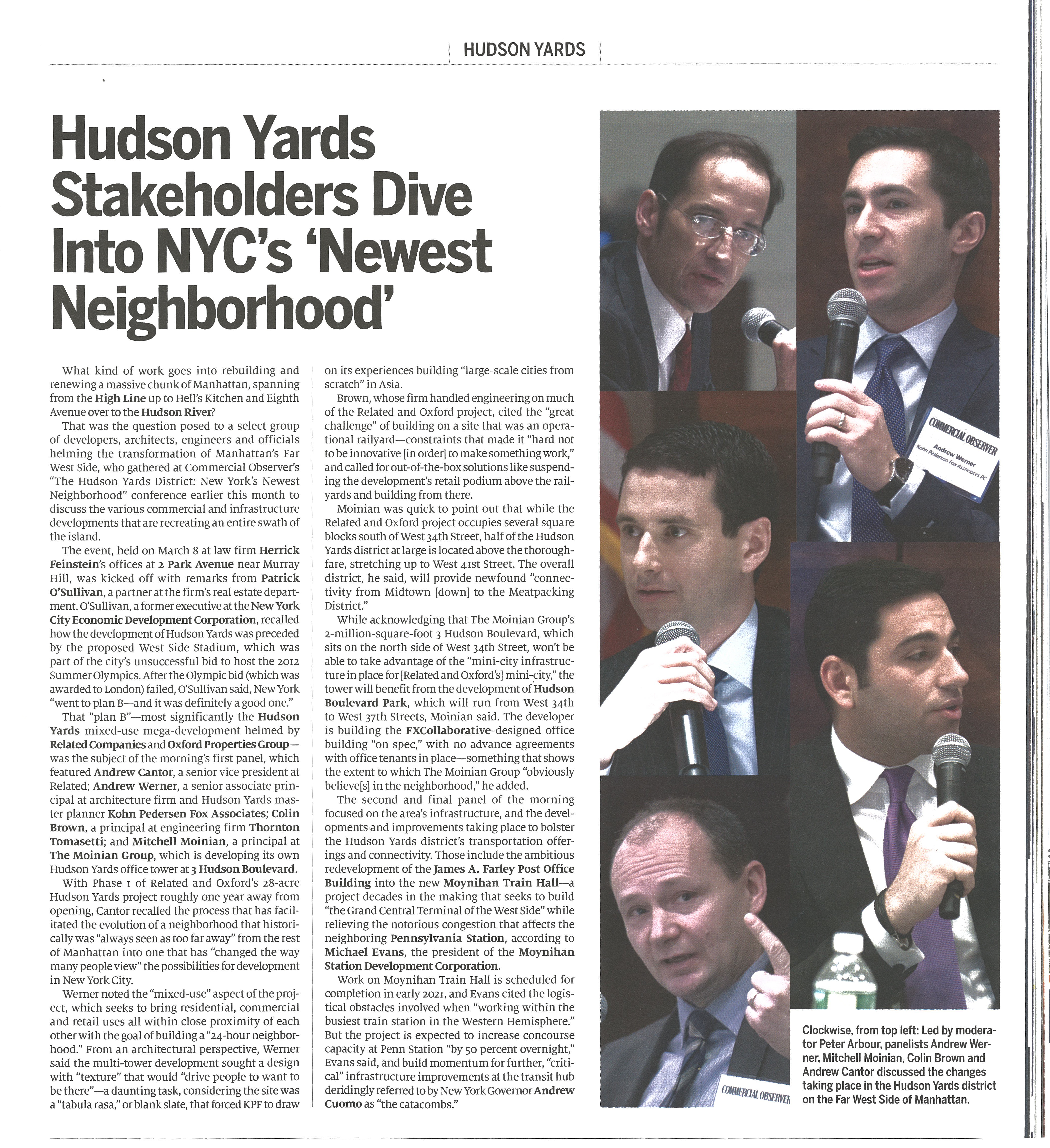 Peter Arbour - Commercial Observer - Hudson Yards 2018